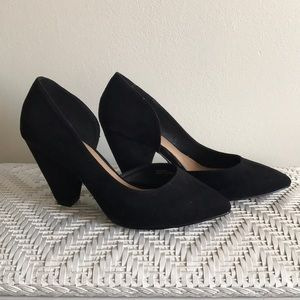 Black Suede Heels by ASOS